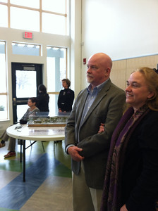 DPW Director Bill Fuqua and his wife,  Opening Celebration, Saturday February 23, 2013