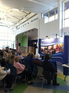 Mayor Alex Morse speaking at the Opening Celebration, Saturday February 23, 2013
