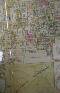 1911 Atlas.  Nonotuck Street ends before the Cemetery.
