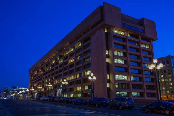 U.S. Postal Service HQ  L'Enfant Plaza SW Promenade Twilight - CL1