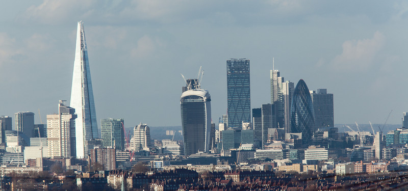 City of London - view from Crystal Palace in South London