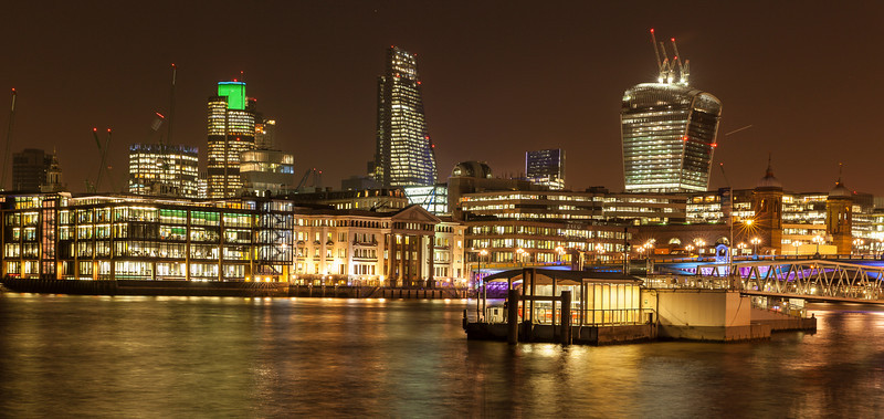 City of London at Night - view from the South Bank