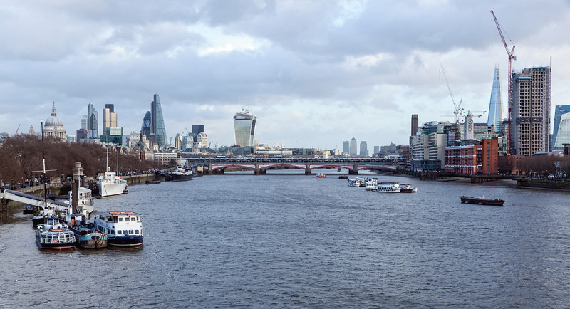 The City of London from Waterloo Bridge
