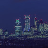 Night view of the City of London from Crystal Palace in South London