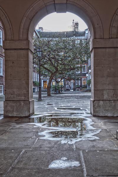 Pump Court in Lincolns Inn in London