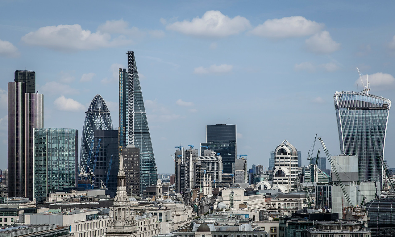 The City of London - view from the roof of St Paul's Cathedral