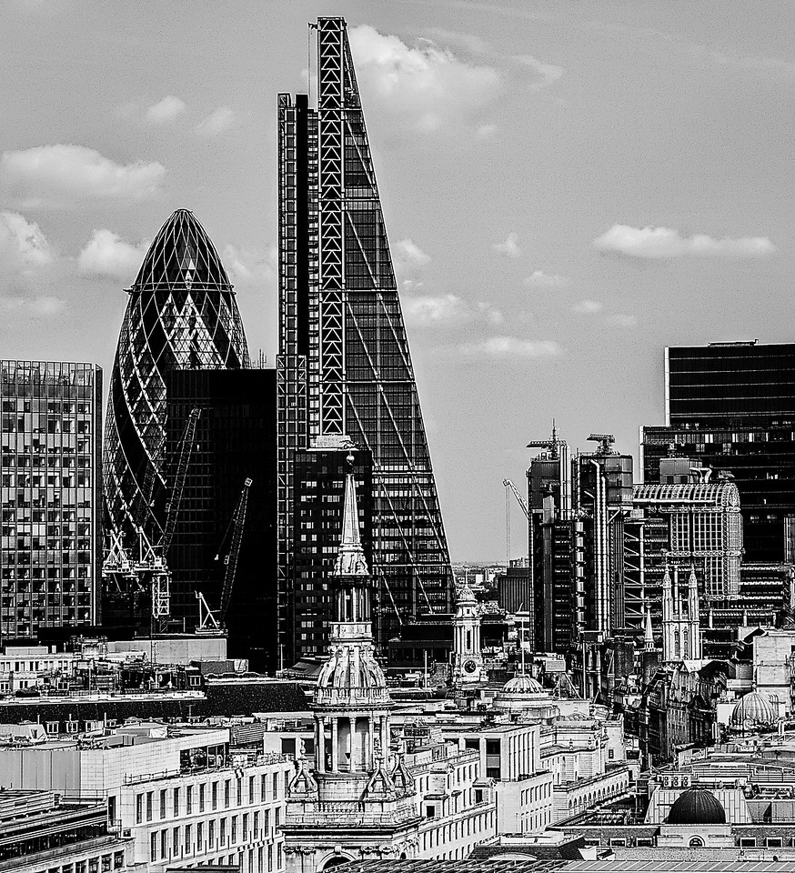 City of London from the roof of St Paul's Cathedral