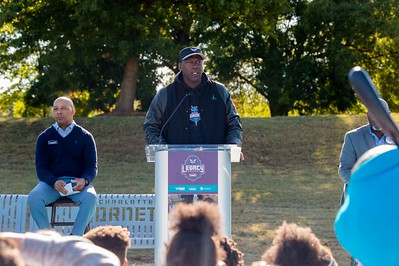 Hornets Legacy Project Powered by Lowe's Greenville Park Renovated Basketball Court 10-18-19 by Jon Strayhorn