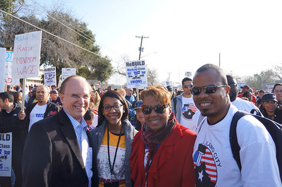 Great Pics...Marching to support the Legacy of Rev. Dr. Martin Luther King, Jr.   The Alamo City Chamber of Commerce marched supporting Dr. King's Economic Bill of Rights.  Thanks to our initial group and we hope to add even more business owners in 2015. (Pictures by Christopher Herring)