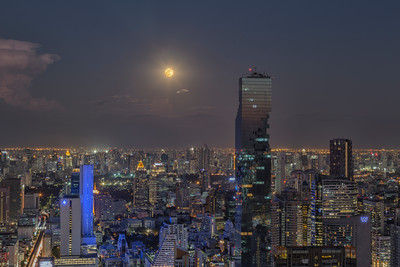 The Bangkok 'Super Moon' shoot on the JTC Building rooftop on November 11, 2016