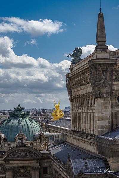 Opera Garnier and Paris Skyline