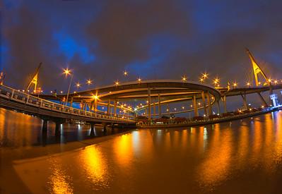 King Bhumibol (Rama IX) Bridge, Bangkok