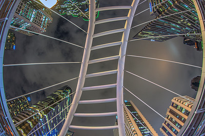 looking up in central Bangkok