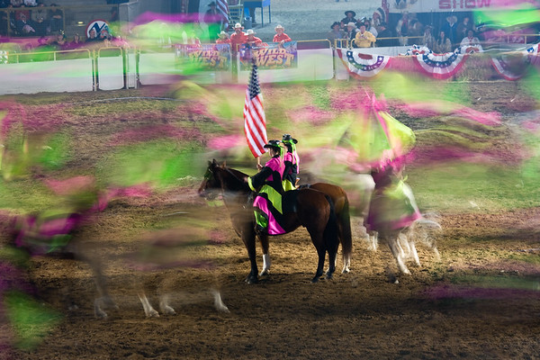 A shot of the Wild West Show at the National Stock Show in Denver, Colorado.