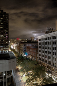 These shots of Denver and the 16th Street Mall are peculiar in many ways.  The lighting is tricky and the long exposures can work for you or against you, especially when you are rooted on a parking garage.
