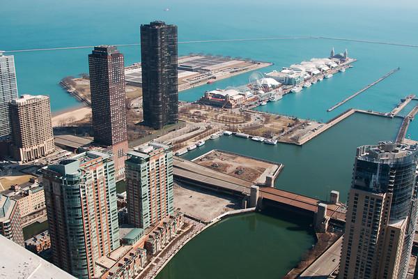 Views from Aqua Tower crane