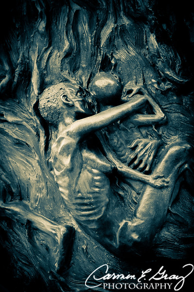 Holocaust Memorial - A closer look at the bodies within the flames.