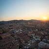 tramonto su Bologna
