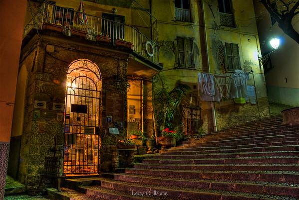 Strade di notte di Riomaggiore-cinque terre-Liguria