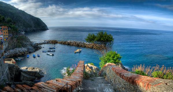 Panoramica porto Riomaggiore-Cinque terre-Liguria