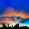 A Sunset Looking West in Denver, CO