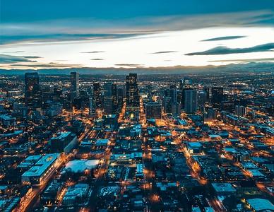 Denver Dusk, Gold & Blue