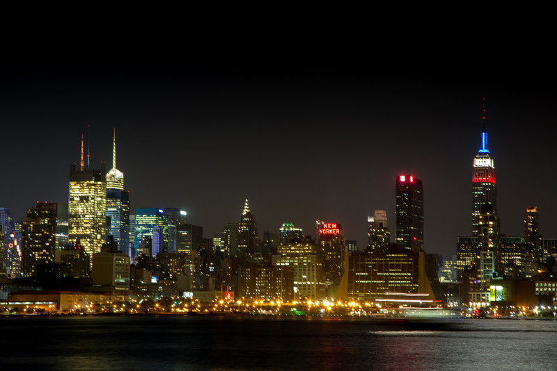A look at the New York skyline from the other side of the Hudson river