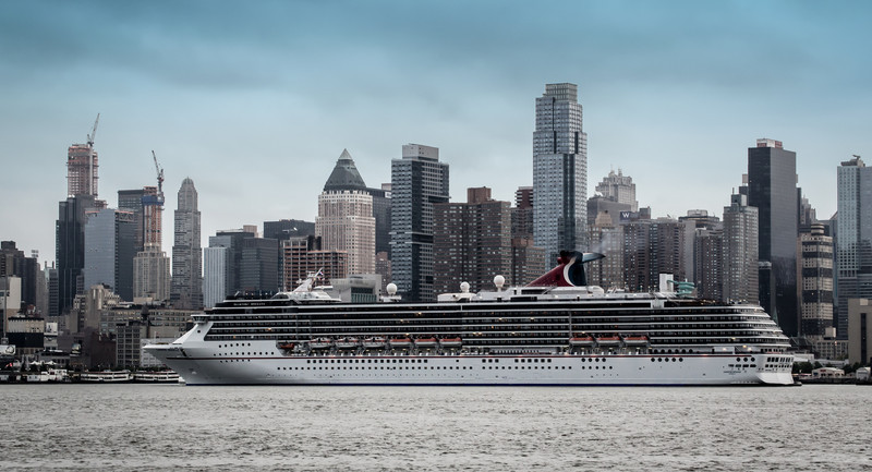 The cruise ship Carnival Miracle arrives in New York
