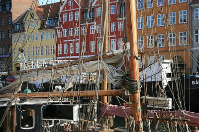 Nyhavn, Kopenhagen. Denemarken.