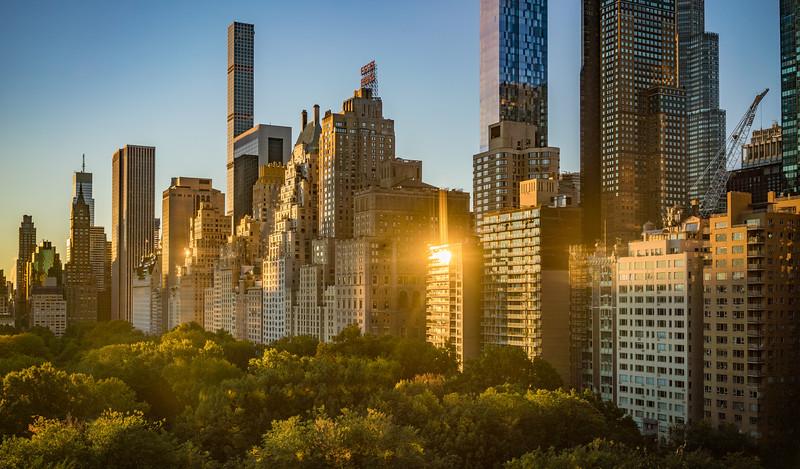 Central Park South at Sunrise