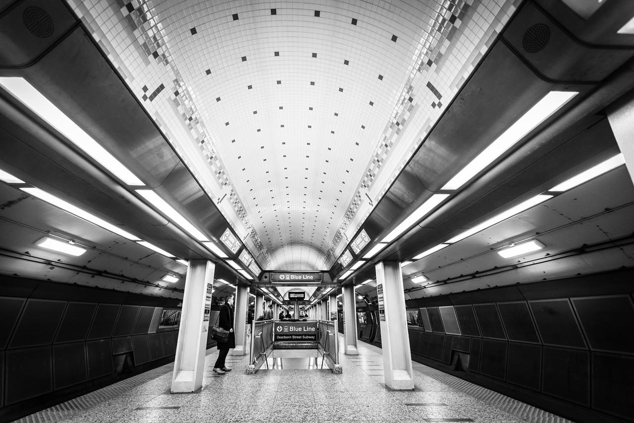 Chicago Subway Scene