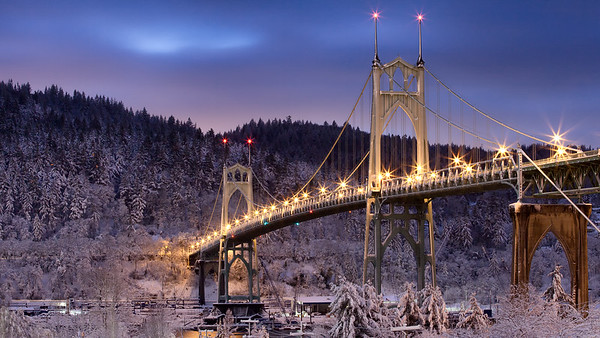 Frost by the Bridge