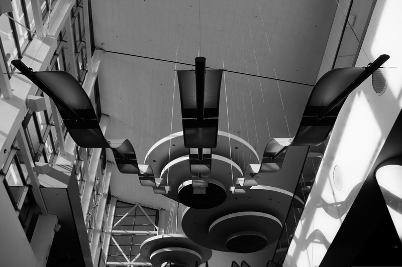 Stairway lighting at Colorado Convention Center in B&W
