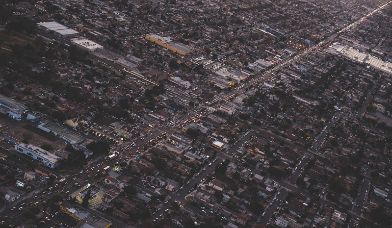 Aerial View of LA Traffic