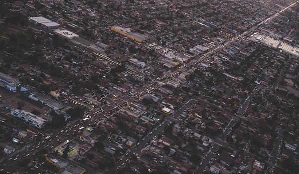 Aerial View of LA Traffic