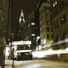 Chrysler Building with Light Stream