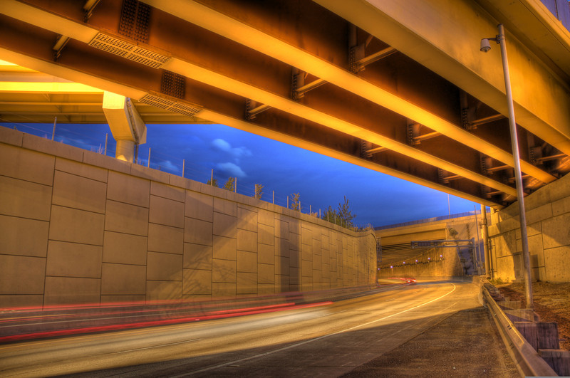 Long exposure HDR of I25 and Hwy 225 junction in Denver, Colorado