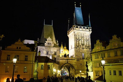 Castle at night in Prague