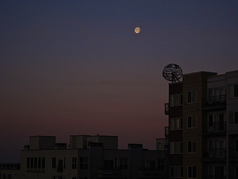 Moonset at Sunrise