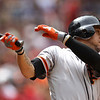 "<a href=""http://giants.mlb.com/team/player.jsp?player_id=453923#gameType='L'§ionType=career&statType=1&season=2012&level='ALL'"">Gregor Blanco</a> - #7 - LF<br /> Bats Left - Throws Left, Height: 5'11"", Weight: 185, Born: Dec 24, 1983"