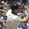 """<a href=""""http://giants.mlb.com/team/player.jsp?player_id=452254#gameType='L'§ionType=career&statType=1&season=2012&level='ALL'"""">Hunter Pence</a> - #8 - RF<br /> Bats Right - Throws Right, Height: 6'4"""", Weight: 220, Born: Apr 13, 1983"""