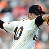 """<a href=""""http://giants.mlb.com/team/player.jsp?player_id=518516&c_id=sf#gameType='W'§ionType=career&statType=2&season=2012&level='ALL'"""">Madison Bumgarner</a> - #40<br /> Starting Pitcher, Bats Right - Throws Left, Height: 6'5"""", Weight: 235, Born: Aug 1, 1989"""