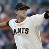 "<a href=""http://giants.mlb.com/team/player.jsp?player_id=430912#gameType='L'§ionType=career&statType=2&season=2012&level='ALL'"">Matt Cain</a> - #18<br /> Starting Pitcher, Bats Right - Throws Right, Height: 6'3"", Weight: 230, Born: Oct 1, 1984"