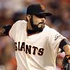 "<a href=""http://giants.mlb.com/team/player.jsp?player_id=489265#gameType='L'"">Sergio Romo</a> - #54<br /> Bullpen, Bats Right - Throws Right, Height: 5'10"", Weight: 185, Born: Mar 4, 1983"