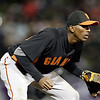 """<a href=""""http://giants.mlb.com/team/player.jsp?player_id=435078#gameType='L'§ionType=career&statType=1&season=2012&level='ALL'"""">Joaquin Arias</a> - #13 - SS/3B<br /> Bats Right - Throws Right, Height: 6'1"""", Weight: 170, Born: Sep 21, 1984"""