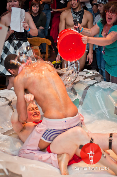 """Photo by Ezra Ekman <br /><br /> <b>See event details:</b> <a href=""""http://www.sfstation.com/slippery-smackdown-ii-not-your-mothers-lube-wrestling-e1249711"""">Slippery Smackdown II: Not Your Mother's Lube Wrestling</a>"""