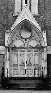 vacant church door bw feb2011