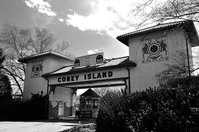 coney island bw april 2011