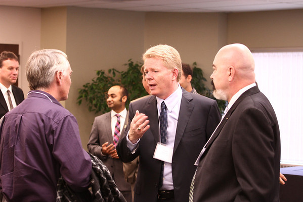 Guests mingle at the data centre launch  event