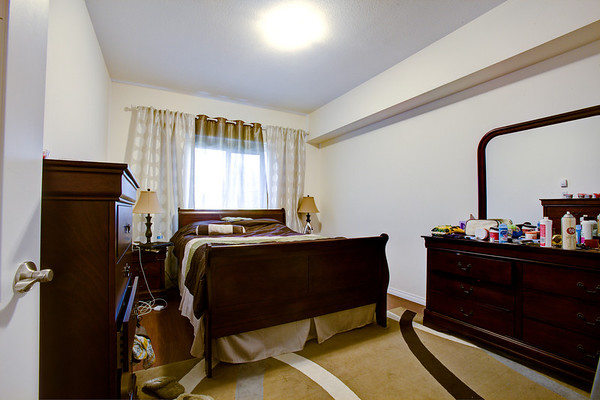 Typical bedroom in one of the suites.
